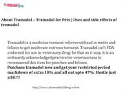About Tramadol – Tramadol for Pets | Uses and side effects of tramadol