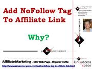 Add NoFollow Tag To Affiliate Link
