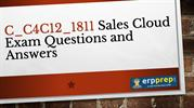 SAP Sales Cloud Certification Exam Questions Answers