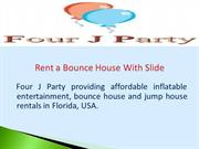 Rent a Bounce House With Slide