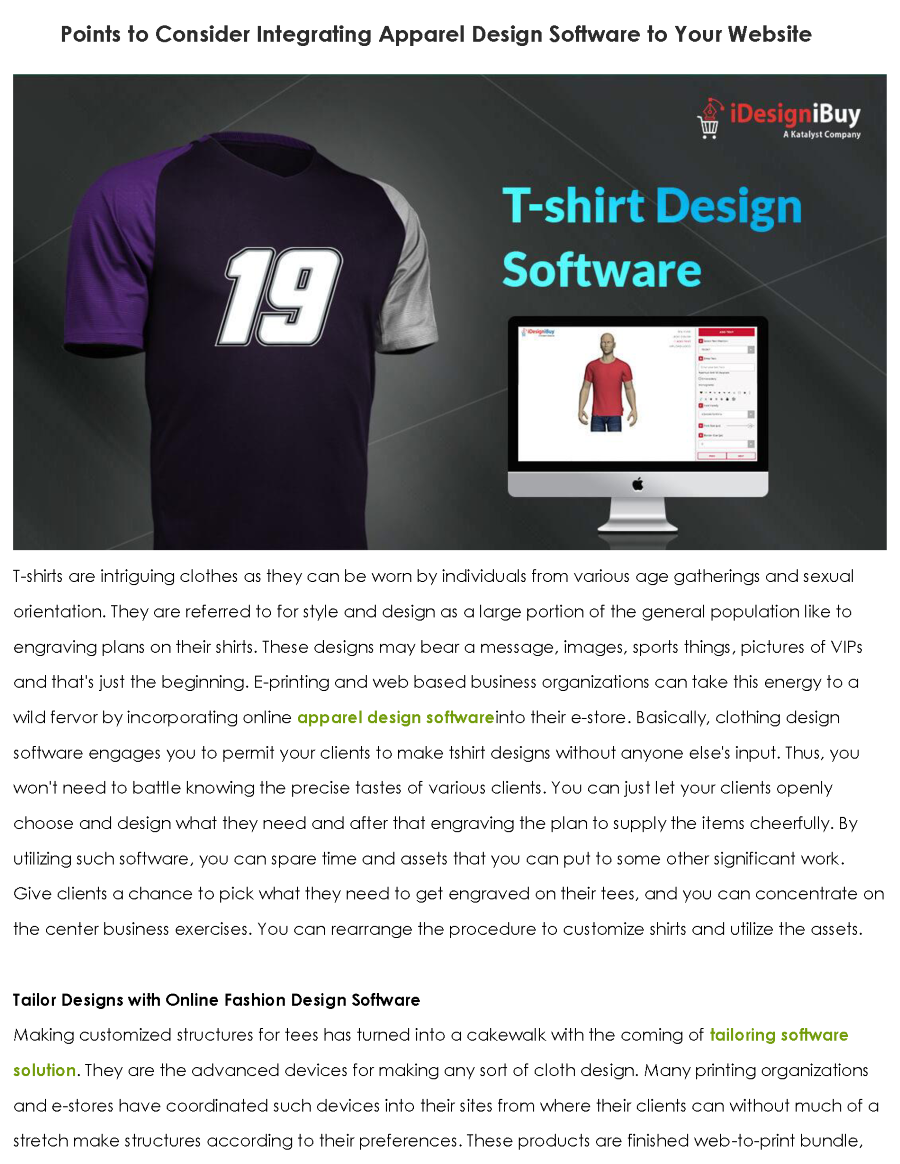 Points To Consider Integrating Apparel Design Software To Your Web Authorstream