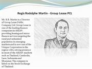 Regis Rodolphe Martin - Group Lease PCL