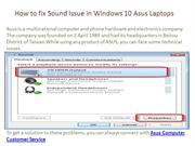 How to fix Sound Issue in Windows 10 Asus Laptops