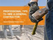 General Contractor Franklin Indiana: Tips to Hire Contractor