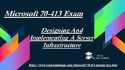 Latest 70-413 Exam Questions - 70-413 Exam Dumps RealExamDumps