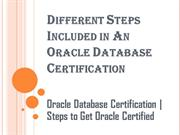 Different Steps Included in An Oracle Database Certification