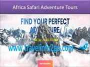 African safari vacation packages