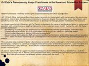 Ori'Zaba's Transparency Keeps Franchisees in the Know and Primed for S