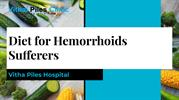 Diet for hemorrhoids sufferers