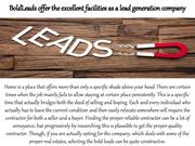 BoldLeads offer the excellent facilities as a lead generation company