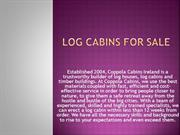 Log Cabins For Sale-Coppola Cabins