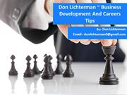 Don Lichterman  Business Development And Careers Tips