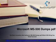 Microsoft MS-500 Dumps Pdf - Gest A Fine Success