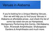 Venues in Alabama