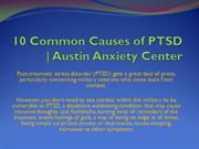 10 Common Causes of PTSD   Austin Anxiety Center