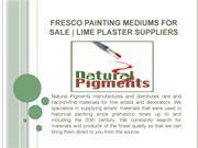Lime Plaster Suppliers   Fresco Painting Mediums for Sale