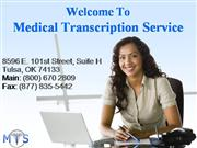 Medical Transcription Services, Medical