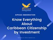 Know everything about Caribbean Citizenship by Investment