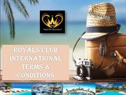 Read Royals Club International Terms For Travel Service