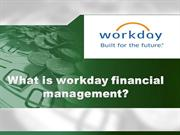 Workday financial training| Workday online training