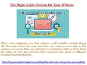 The Right Color Choices for Your Website