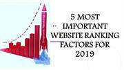 5 Most Important Website Ranking Factors For 2019