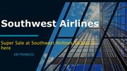 Super Sale at Southwest Airlines Tickets is here