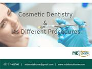 Cosmetic Dentistry and Its Different Procedures