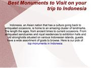Best Monuments to Visit on your trip to Indonesia