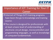 Importance of IOT Training for Your IT Career