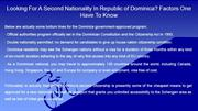 Looking For A Second Nationality In Republic of Dominica Factors One H