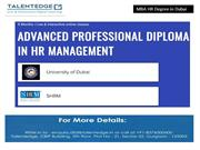 MBA HR Degree In Dubai