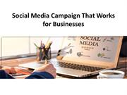 Social Media Campaign That Works for Businesses