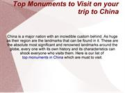 Top Monuments to Visit on your trip to China