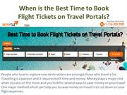 When is the Best Time to Book Flight Tickets on Travel Portals?