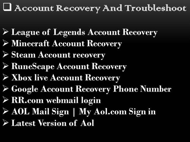 Account Recovery And Troubleshoot |authorSTREAM