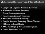 Account Recovery And Troubleshoot