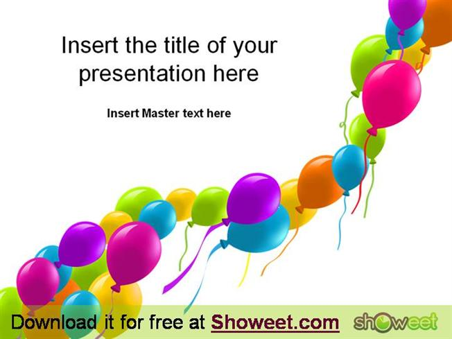 Free powerpoint template balloons authorstream toneelgroepblik Gallery