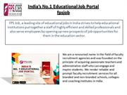 India's No. 1 Educational Job Portal