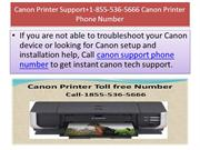 Canon Printer Support+1-855-536-5666 Canon Printer Phone Number