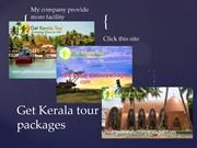 Kerala tour packages -tour packages in kerala