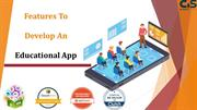 Features to develop an educational apps