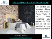 Faux Stone Wall Panels Cheap