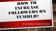 How To Increase Followers On Tumblr