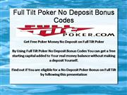 Full Tilt Poker No Deposit Bonus Codes