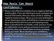 How Music can boost confidence