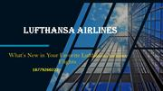 What's New in Your Favorite Lufthansa Airlines Flights