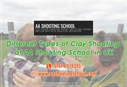 Experience all types of Clay Shooting at AA Shooting School