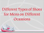Different Types of Shoes for Mens on Different Ocassions