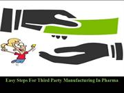 Easy Steps For Third Party Manufacturing In Pharma